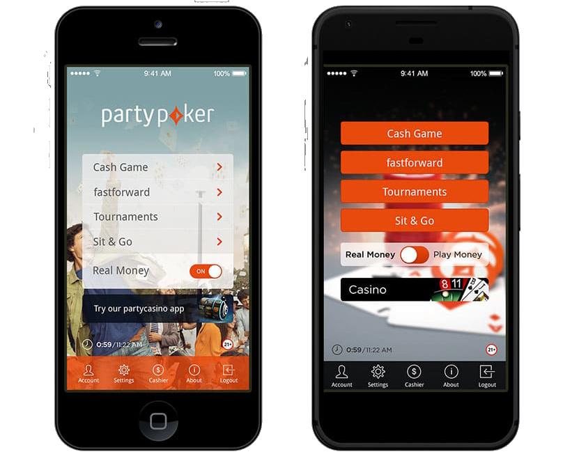 Мобильные приложения PartyPoker
